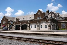 Newton, KS train station ~ Built by Santa Fe in Newton, KS in 1929. Now used by Amtrak and other retail businesses.