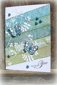 A lovely card making use of lots of scrap - Washi Tape Cards, Karten Diy, Butterfly Cards, Pretty Cards, Card Sketches, Sympathy Cards, Card Tags, Paper Cards, Cool Cards