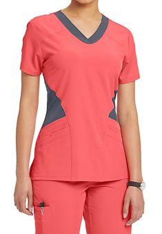 Barco One Contrast Mesh Inset Scrub Tops Vet Scrubs, Medical Scrubs, Scrubs Outfit, Scrubs Uniform, Scrub Suit Design, Scrubs Pattern, Stylish Scrubs, Womens Scrubs, Diy Couture