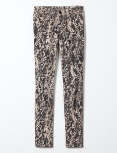 CASEY SUPER SKINNY FEATHERED PRINT WOMENS JEAN #TRholiday13 #TRHoliday13
