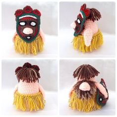 Tribal Gonk  Free crochet patterns for outfits to fit Santa Gonk A Gonk's Journey