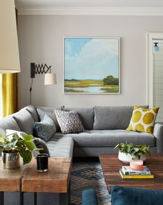 Frame on the artwork & how it ties together the room via A New Old 18th Century Home | Rue