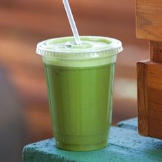 Ingredients: Parsley, Spinach, Apples, Lemon and Ginger.  This drink will help your body to naturally rid itself of toxins in the blood and liver and sooth your stomach too.