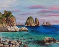 Faraglioni di Scopello painter Giuseppa Matraxia