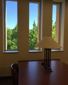 Study on the third floor of the SCSU Library to look at the tree tops and blue skies! #treetops #blueskies #sweetsummertime #scsulibrary #daydreaming