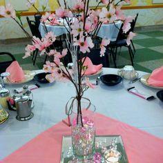 Sandy's center piece bridal shower _ Japanese cherry blossom