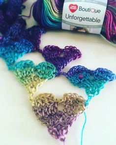 I have a bunch of projects on the go, anyone else have more than one project on the go? My Crochet Love Triangle Shawl with Red Heart Unforgettable yarn is getting bigger! http://dearestdebi.com/crochet-love-triangle-shawl