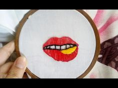 Embroidery Techniques, Embroidery Ideas, Printable Art, Printables, Hello Everyone, Red Lips, Christmas Decorations, Tutorials, Stitch