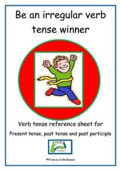 The verbs included in this reference sheet are: begin, bite, blow, break, bring, build, buy, catch, come, do, draw, drink, drive, eat, fall, fight, fly, give, go, grow, have, hide, hold, know, leave, make, pay, ride, ring, run, saw, see, shake, sing, sink, sit, speak, steal, strike, swim, take, teach, think, throw, wear, writeStudents might find this useful when playing Irregular Verb Dominoes and Irregular Verb Bingo available in the EALEE store.Perhaps the pages could be enlarged and used…