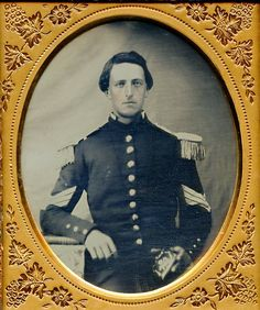 Military Army Militia Sergeant Post Mexican War 1850s Daguerreotype Photo