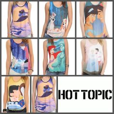 Disney tank tops @  ok I NEVER go to hot topic but I want!