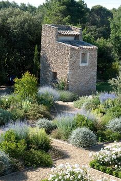 Thomas Gentilini Architect, Private Garden, Provence Saint Cannat Parkway and front boarder. Wood rail and crushed granite boarders for lavender and olive too. Dry Garden, Gravel Garden, Garden Paths, Garden Landscaping, Home And Garden, Gravel Path, Pea Gravel, Garden Bed, Landscaping Ideas