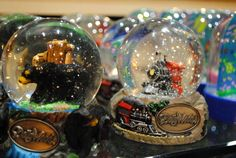 Beautiful snowglobes from the Emporium at Dollywood