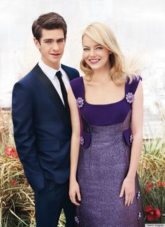 so precious it kinda makes me sick:  Emma Stone & Andrew Garfield in the Aug 2012 Teen Vogue