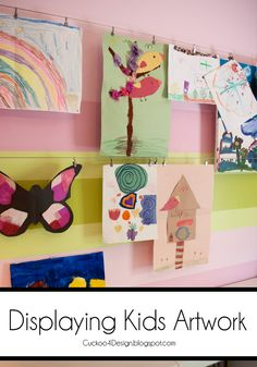DIY: Displaying Kids Artwork the Easy Way