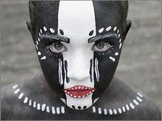 africa~b e a u t i f u l !  i love this makeup it is gorgeous