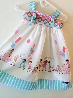 Knot Dress Children on Parade by LadyBeez Designs made from Sarah Jane for Michael Miller fabric ONLY $38