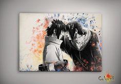 Naruto Shippuuden Uchiha Itachi Sasuke  Watercolor  by ColorInk