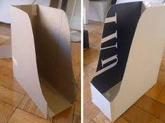 Resultado de imagem para How to make your own cardboard magazine holder