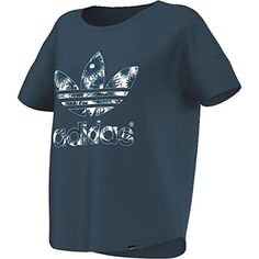 Adidas Daisies Graphic Logo T-Shirt 38 blue
