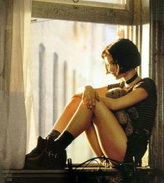"""Natalie portman, película """"León el profesional"""" 1994."""