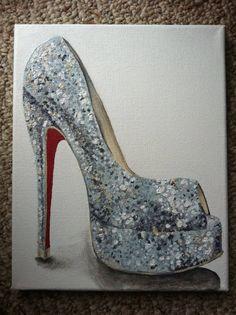 Custom Made to Order Shoe Painting by artofsarahjane on Etsy, ♡