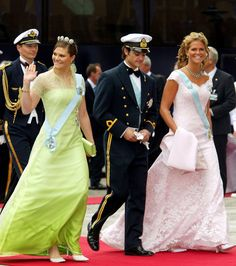 Siblings - Crown Princess Victoria, Prince Carl and Princess Madeleine of Sweden.