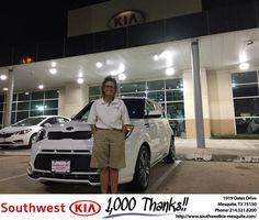 https://flic.kr/p/MaLAYB   Congratulations Dianna on your #Kia #Soul from JERRY TONUBBEE at Southwest Kia Mesquite!   deliverymaxx.com/DealerReviews.aspx?DealerCode=VNDX