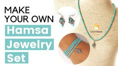 VIDEO: How to make Hamsa Hand Jewelry Set Tutorial