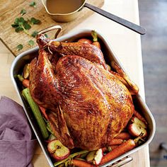 Apple-Bourbon Turkey and Gravy | MyRecipes.com