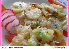 Zapečené brambory s Nivou a pórkem recept - TopRecepty.cz