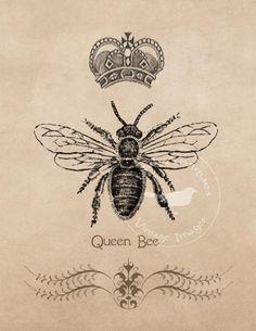 Vintage Bee Images Large Frameable Instant by DigitalAntiques, $4.50