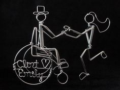 ALWAYS & FOREVER: Wheelchair Wedding Cake Topper Personalized. via Etsy..  >>> See it. Believe it. Do it. Watch thousands of spinal cord injury videos at SPINALpedia.com