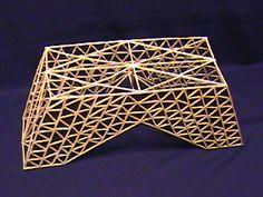 Balsa wood bridge design and construction by Ceres Software Corporation Toothpick Sculpture, Ing Civil, Most, Psalm 127, Stem Steam, Bridge Design, Wood Bridge, Miniature Furniture, Civil Engineering