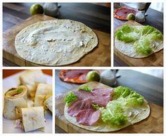 Experimente aus meiner Küche: Fingerfood und Dip-Testessen --> Salamiwraps