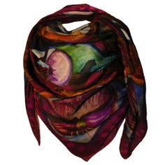 VENDEMMIA  is one of the newest colors of PALME PASHMINA by PITSART.Pashimina modal and cashmere 140 cm x 140 cm.Hand finishing.100% Made in Italy