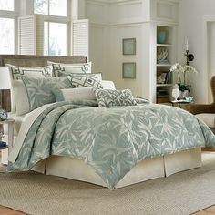 #TommyBahama Bamboo Breeze Comforter & Duvet Sets. #bed #beddingstyle #bedding #bedroom #beachy