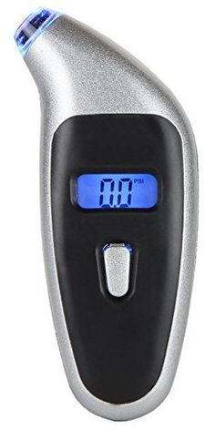Digital Tire Pressure Gauge -- Ever found yourself in the dark trying desperately to fit your gauge on the valve to get a clear reading without deflating your tire? Just easily push the blue LED-lit nozzle into the valve stem, press the button, and you'll instantly see a reading appear on the backlit digital display.