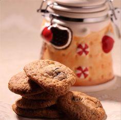 Cookies de chocolate branco com cranberry.