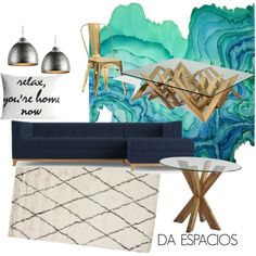 AQUA by fer-moreno-1 on Polyvore featuring interior, interiors, interior design, hogar, home decor, interior decorating, Joybird Furniture, Pier 1 Imports, nuLOOM and Alexandra Ferguson