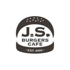 J.S. BURGERS CAFEのロゴ:ハンバーガーのマーク | ロゴストック