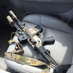 Rollin shotgun with the Noveske/AAC 300 BLK, wearing a PEQ-15,