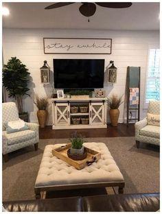 Farmhouse Decor Living Room, Farm House Living Room, Home, Wall Decor Living Room, Room Remodeling, Living Room Interior, Apartment Decor, Living Decor, Living Room Tv