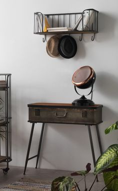 Metal Console Table - suitcase shape