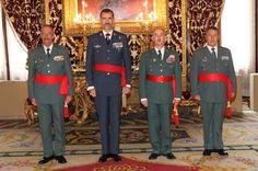 El rey Felipe recibe a tenientes generales y almirantes del Ejército y la Guardia Civil. 18/9/2014.