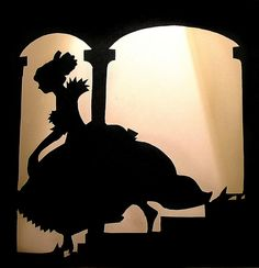 Love this fairytale silhouette.  Silhouettes for speculative fiction display.