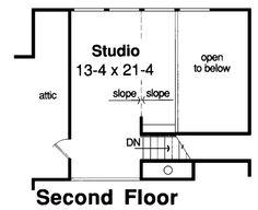 Contemporary Retro House Plan 34083 Level Two