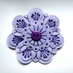 SALE  PEONY felt brooch pin with freeform by designedbyjane, £5.00