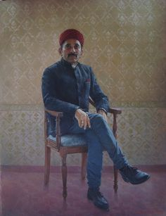 Portrait of an Indian Businessman. Oil on canvas.4ftx3ft