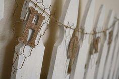 Chicken Wire Pennant Banner